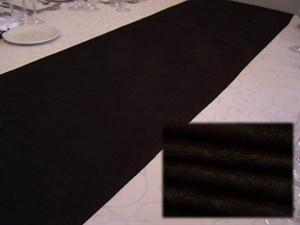 Black Tafetta Table Runner