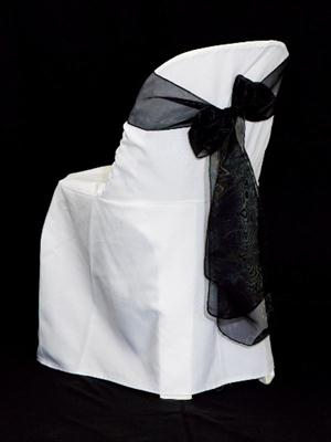 Chair Sash - Black Organza