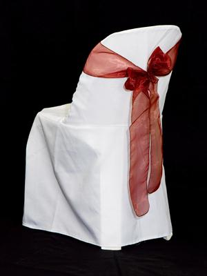 Chair Sash - Brick Organza
