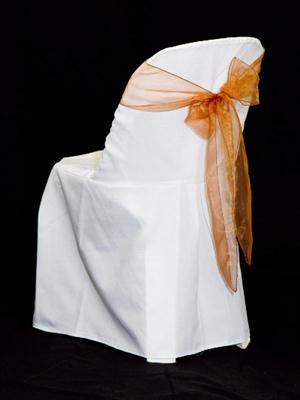 Chair Sash - Bronze Organza