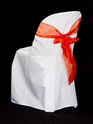 Chair Sash - Burnt Orange Organza