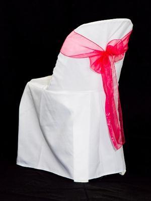 Chair Sash - Cerise Pink Organza