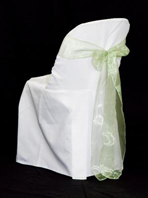 Chair Sash - Light Green Organza