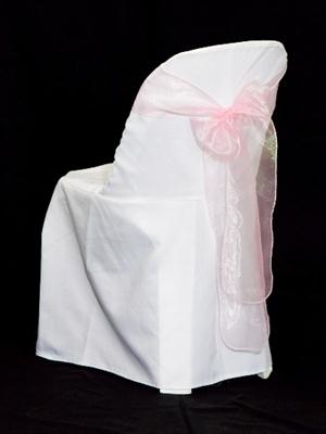 Chair Sash - Light Pink Organza