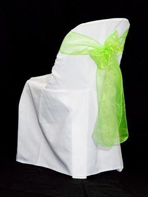 Chair Sash - Lime Green Organza