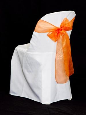 Chair Sash - Orange Organza