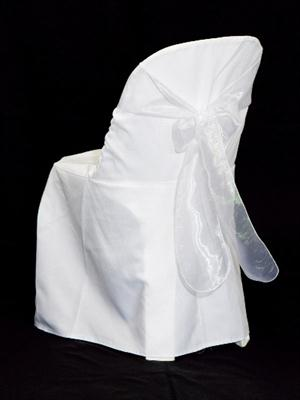 Chair Sash - Silver Organza