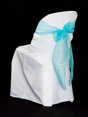 Chair Sash - Turquoise Organza