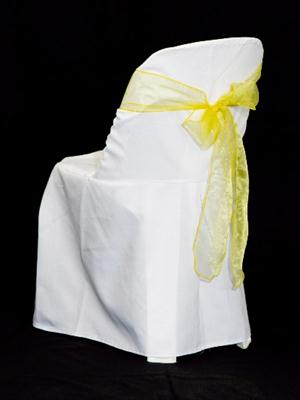 Chair Sash - Yellow Organza