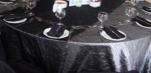 Table Cloth - Gun Metal Grey Taffita