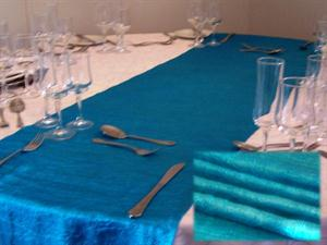 Turquoise Tafitta Table Runner